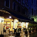 La Roberto's Trattoria On A Rainy Eve by Jan Moore