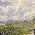 La Sente Du Chou Near Pontoise by Camille Pissarro