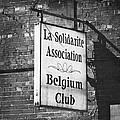 La Solidarite Association Belgium Club by Teresa Mucha