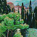 La Turbie Hills Above Monaco by Bridget Brummel