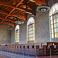 Los Angeles Union Station At Its 75th Anniversary by Richard Cheski