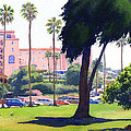 La Valencia Hotel And Cypress by Mary Helmreich