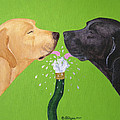 Labs Like To Share 2 by Amy Reges