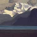 Lac Leman And Les Dents-du-midi by Felix Edouard Vallotton