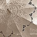 Lace Parasol In Sepia by Lilliana Mendez