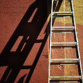 Ladder And Shadow On The Wall by Gary Slawsky