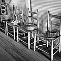 Ladder Back Chairs And Baskets by Lynn Palmer