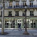 Laduree On The Champs De Elysees In Paris France  by Richard Rosenshein