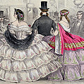 Ladies Wearing Crinolines At The Royal Italian Opera by TH Guerin