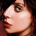 Lady Gaga Close Up by Tony Rubino