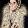 Lady In A Fur Wrap by Domenico El Greco