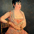 Lady In Pink by Edouard Manet