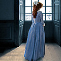 Lady In Purple Gown By Window by Jill Battaglia