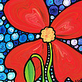 Lady In Red 2 - Buy Poppy Prints Online by Sharon Cummings