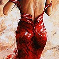 Lady In Red #24 Large  by Emerico Imre Toth