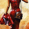 Lady In Red #25 by Emerico Imre Toth