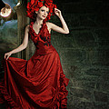 Lady In Red by Ester  Rogers