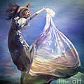 Lady In Water Oil On Canvas Painting Realsim  by Persian Art