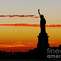 Lady Liberty At Sunset by Susan Wiedmann