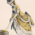 Lady Pulling Up Her Stocking, Engraved by Pierre Thomas Le Clerc