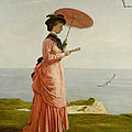 Lady Tennyson On Afton Downs by Valentine Cameron Prinsep