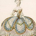 Lady Wearing Dress For A Royal by French School