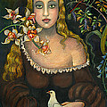Lady With Dove by Vera Zales