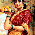 Lady With Fruits by A Samuel