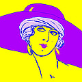 Lady With Hat 1c by Mauro Celotti
