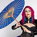 Lady With The Blue Umbrella by Kim Andelkovic