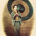 Lady With Umbrella by Reproduction