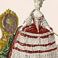 Ladys Court Gown In Dark Cherry by Pierre Thomas Le Clerc