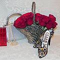 Purse Red Roses Jewelry Diamonds by Juanita  Albert
