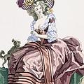 Ladys Elegant Caramel Coloured Satin by Francois Louis Joseph Watteau