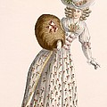 Ladys Gown Embroidered With Small by Jean Florent Defraine