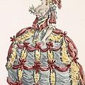 Ladys Gown For Cour A Leiquette by Augustin de Saint-Aubin