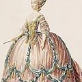 Ladys Gown For The Royal Court by Claude Louis Desrais