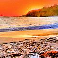 Laguna Beach At Sunset by Bob and Nadine Johnston