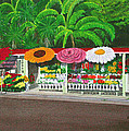 Laguna Beach Flower Stand by Mike Robles