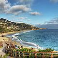 Laguna Beach Shoreline by Eddie Yerkish