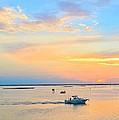 Laguna Madre Fishing At Sunset by Kristina Deane