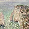 Laiguille And The Porte Daval   Etretat by Claude Monet