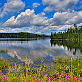 Lake Abanakee In Indian Lake New York by David Patterson