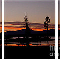 Lake Almanor Sunset Triptych by Peter Piatt