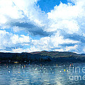 Lake Background by Ezeepics