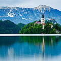 Lake Bled Island Church by Ian Middleton
