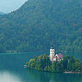 Lake Bled Island by Douglas J Fisher
