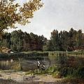 Lake by Carlos de Haes