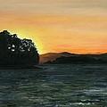 Lake Champlain Adirondack Mountains Vt/ny by Judith Rice