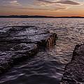 Lake Champlain Sunset Burlington Vermont Oakledge Park by Andy Gimino